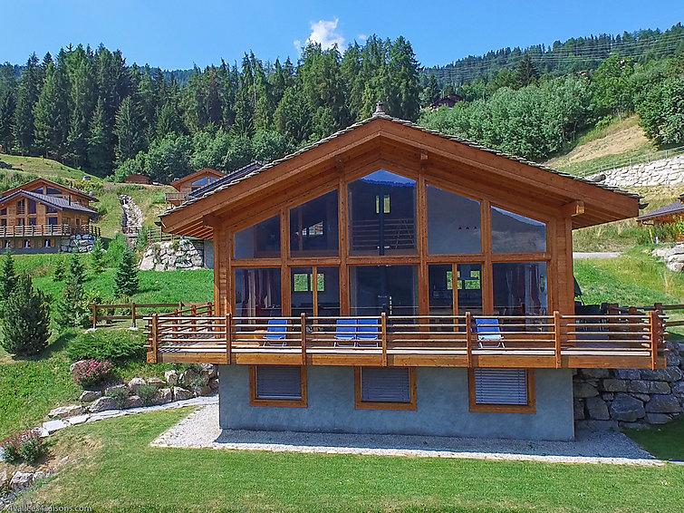 Modern Zwitsers Chalet : Vakantiehuis chalet tubber in la tzoumaz zwitserland ch