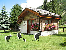 Saas-Grund - Vakantiehuis Häuschen Stadel