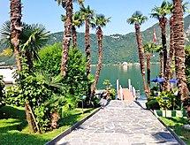 Lago di Lugano med bad og elevator