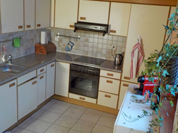 Holiday Apartment Ferienwohnung Bio-Hirschfarm with fireplace and washingmachine