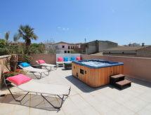 Casa Juan con patio und lavatrice