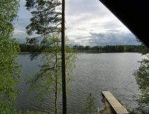 Koivurinne med furnace och Tv-apparat