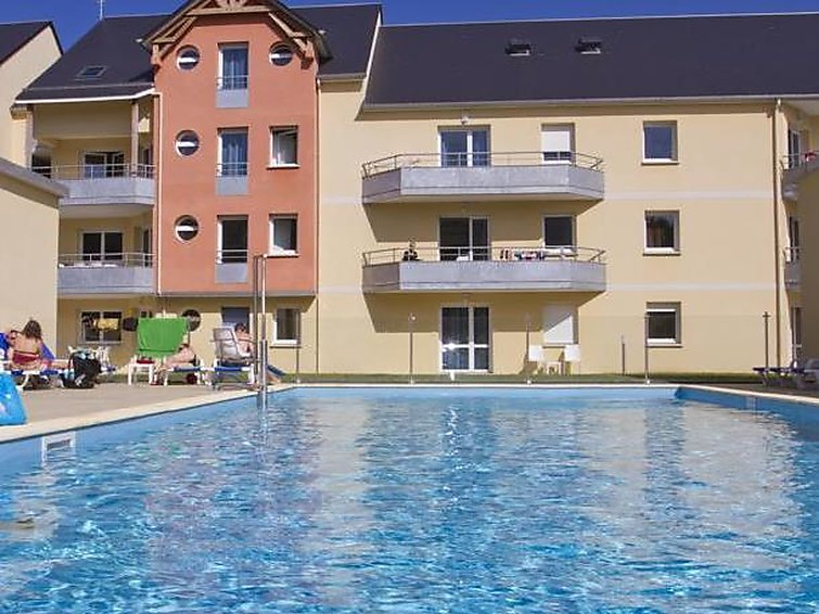 Ferielejlighed Adonis Grandcamp / T2 med opvarmet pool og pool