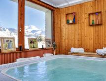 Les Chalets Prariand con sauna und piscina