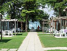 Camping San Benedetto mit Themenpark in der nähe und Patio