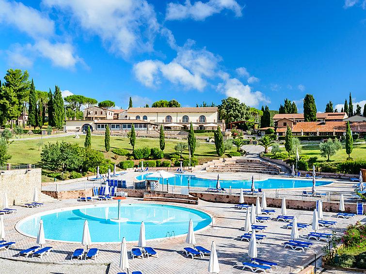 Ferienwohnung Pian di Mucini mit Rezeption und Patio