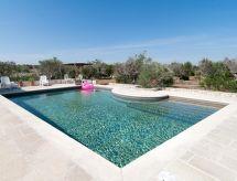 Racale - Ferienhaus Ciampa Pool trullo