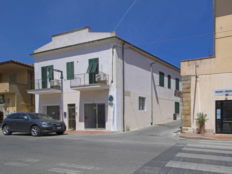 Ferienhaus San Rocco a Mare mit Waschmaschine und Patio