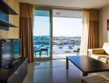 2 BDR Sea View Blubay para golf y con horno