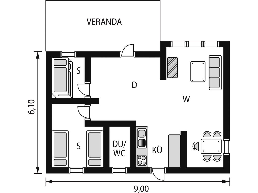 Ferienhaus Mjöhult Skogen (HAL022) (2649047), Ätran, Hallands län, Südschweden, Schweden, Bild 15