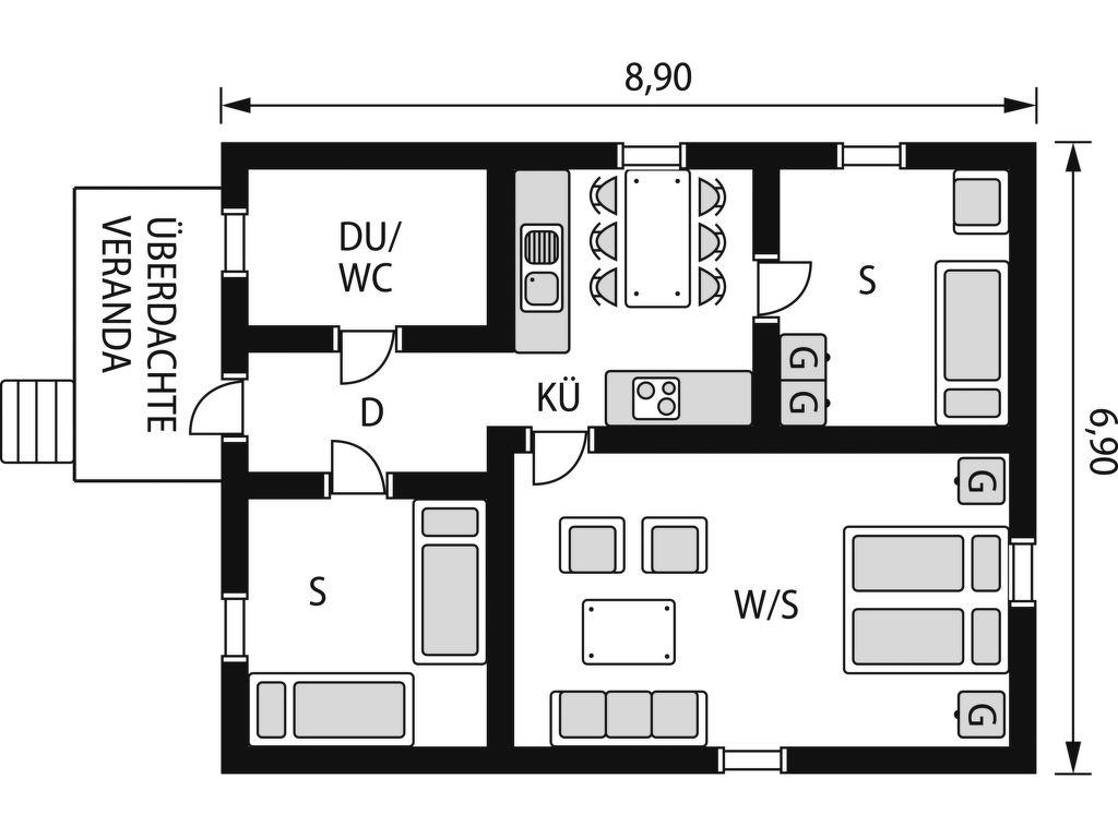Ferienhaus Ramsjö (HSL020) Ferienhaus in Schweden