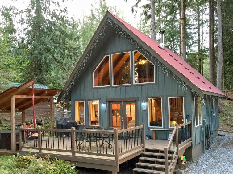 99MBR Woodsy Cabin w Hot Tub WiFi